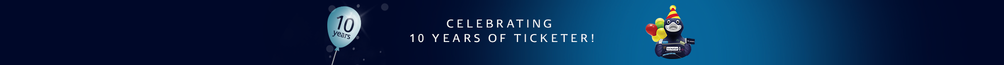 Celebrating 10 years of Ticketer!